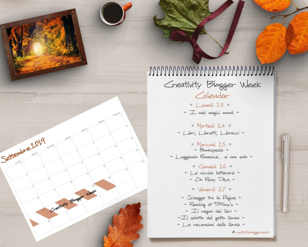 Creativity blogger week, cadono le foglie, calendario