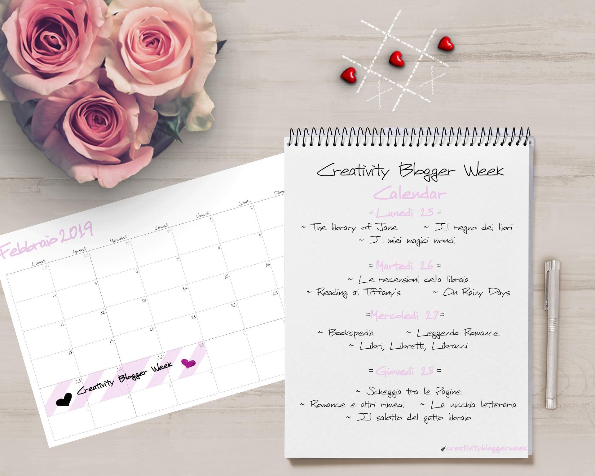 Creativity Blogger Week Rubrica mensile l'amore è dolce