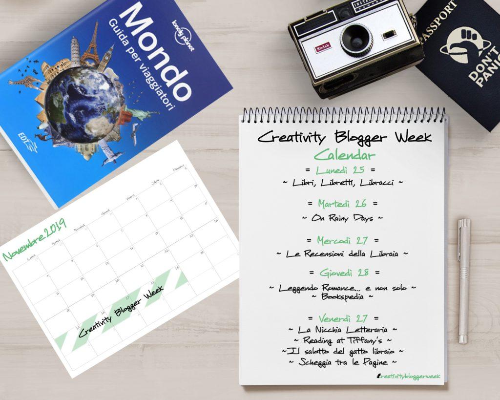 Il mondo intorno a me, Creativity blogger week, blog, blogger, novembre, rubrica, viaggi, libri