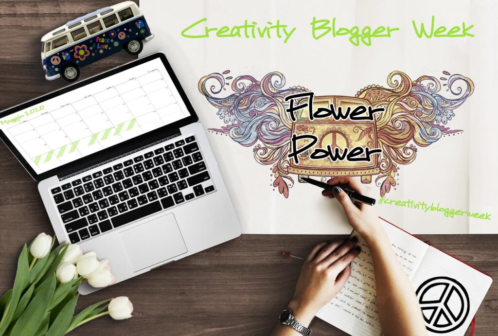 Creativity Blogger week, banner, maggio, flower power