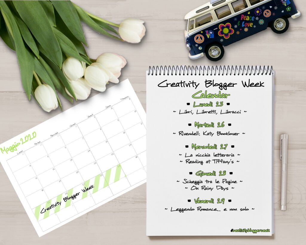 Creativity Blogger week, Flower Power, Maggio, Calendario