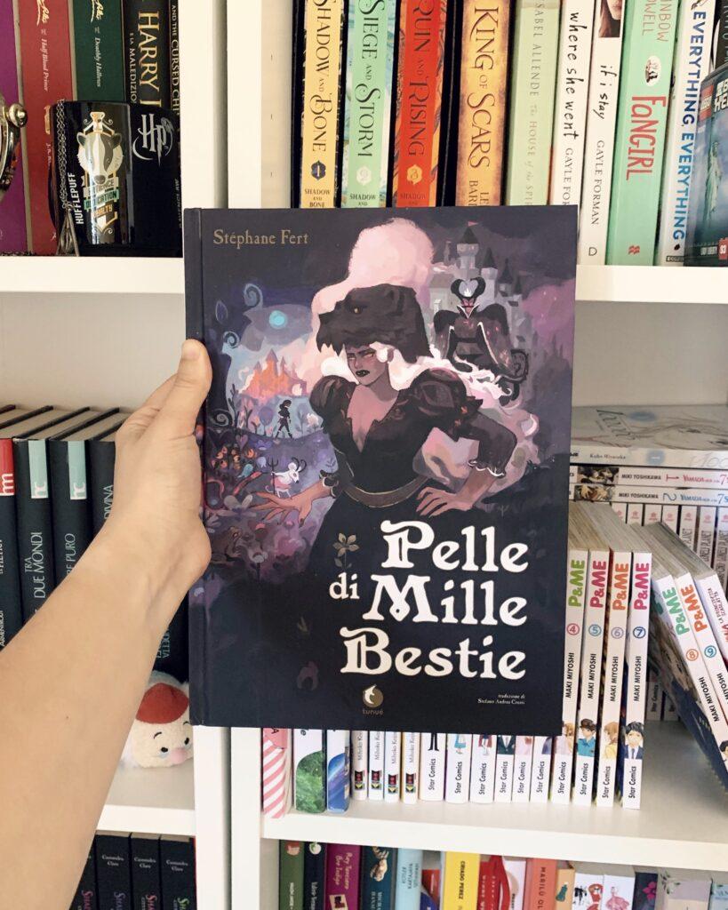 Pelle di mille bestie, Stéphane Fert, Tunué, Graphic novel, fiabe, favole, la bella e la bestia, la bella addormentata nel bosco, morgana, review party, blogtour, merlino, Artù, Disney,