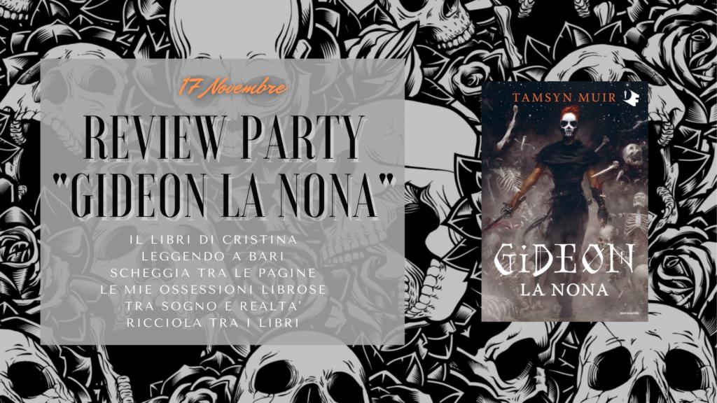 Banner, gideon la nona, review party, mondadori